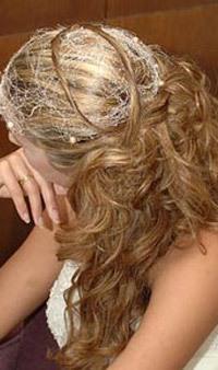 свадебная причёска на длинные волосы, салон красоты 545-11-07