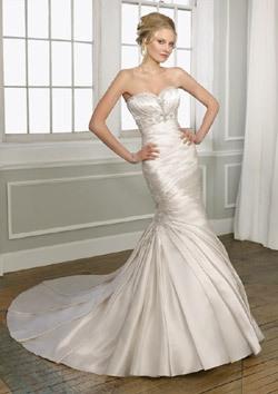Свадебное платье в стиле Русалка для невесты