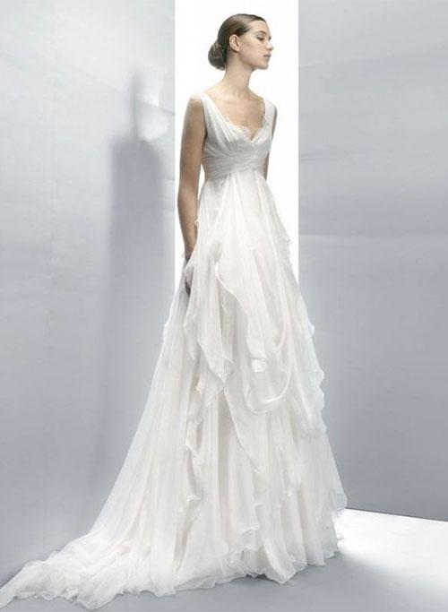 Свадебное платье в стиле ампир с фото и описанием