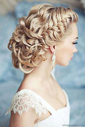 фото: Косы и плетения - тренд свадебных причесок 2014