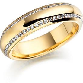 Обручальное кольцо с бриллиантом фото 3