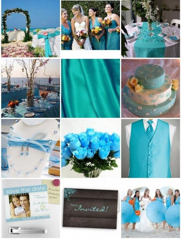 свадьба в бирюзовом цвете фото 1-1