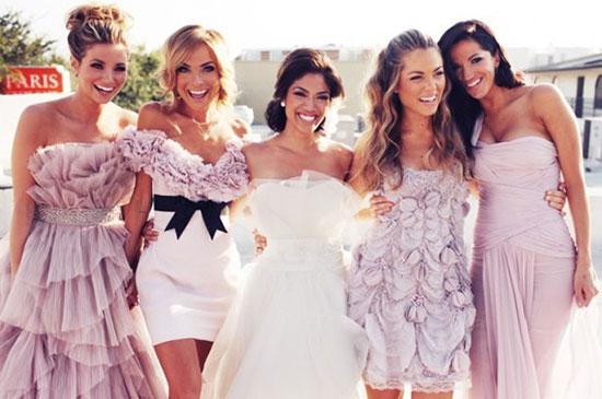 Фасоны платьев для невесты подружек