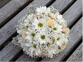 Свадебный букет из хризантемы — img 15