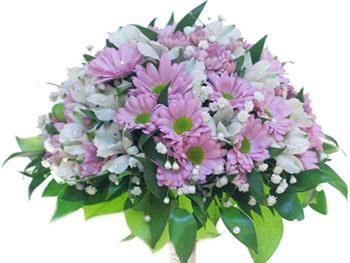 Букет невесты из хризантем фото 4-2