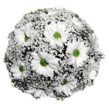 Букет невесты из хризантем фото 5-1