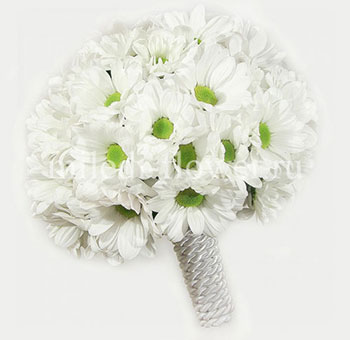 Букет невесты из хризантем фото 5-2