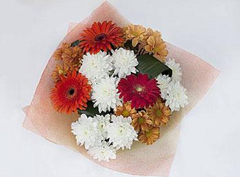 Букет невесты из хризантем фото 7-2