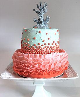 Торт на коралловую свадьбу - Кондитерская - Babyblog ru