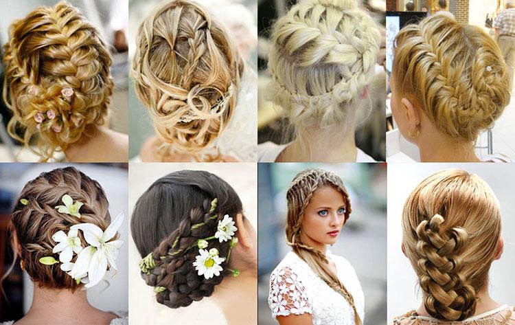 Свадебная прическа с косой: фото и примеры
