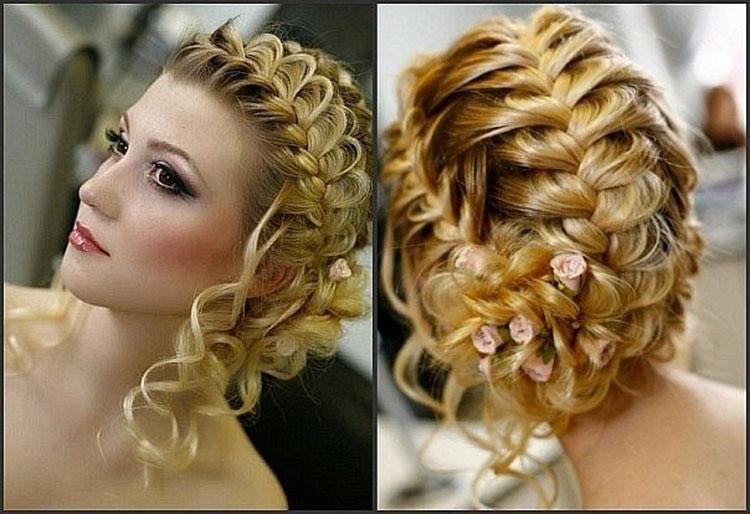 Свадебная прическа с косами фото 5