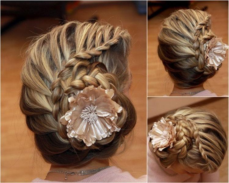 Свадебная прическа с косами фото 8
