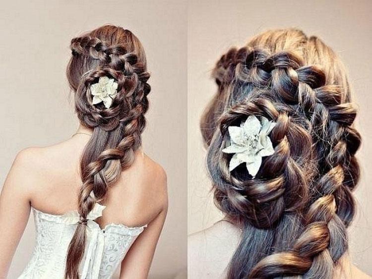 Свадебная прическа с косами фото 9