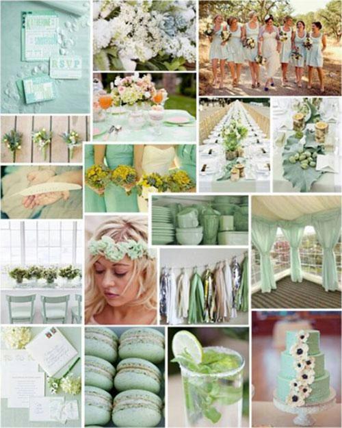Мятная свадьба или свадьба в мятном цвете фото 1