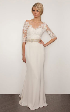 Прямі і вузькі весільні сукні з фото. Як вибрати правильний фасон. a93cbb4452bf5