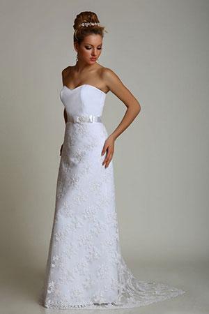 свадебные платья узкие фото