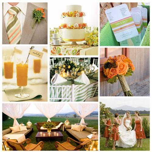 Оранжевая свадьба или свадьба в оранжевом цвете фото 1