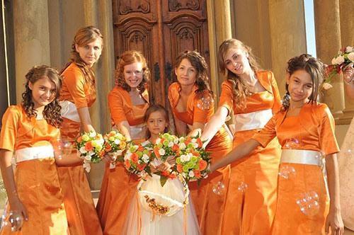 Оранжевая свадьба или свадьба в оранжевом цвете фото 14