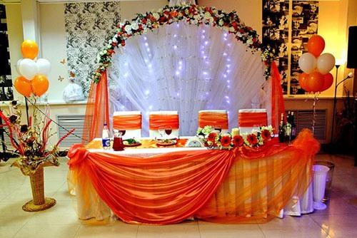Оранжевая свадьба или свадьба в оранжевом цвете фото 16