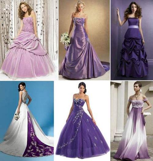 5f5834b7491177a Свадьба в фиолетовом цвете фото 6 фото: Платье невесты на свадьбу в фиолетовых  тонах