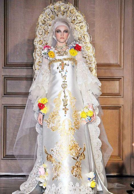 Древнерусские свадебное платье