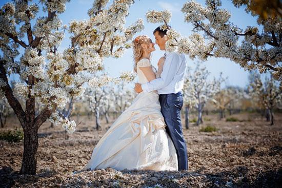 Фото свадьба весной любовь и