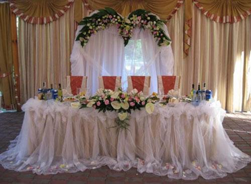 Украшение свадебного стола.фото
