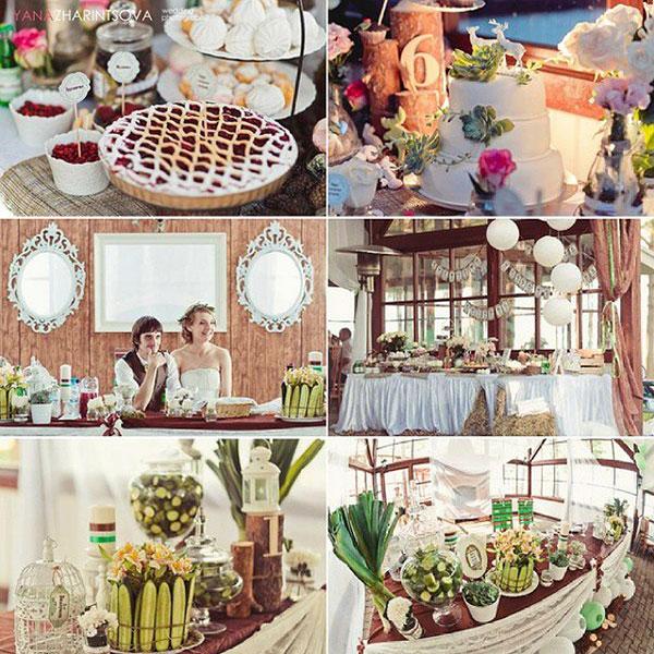 Свадьба в стиле рустик фото 1