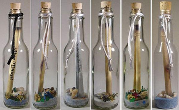 Подарок в бутылке своими руками