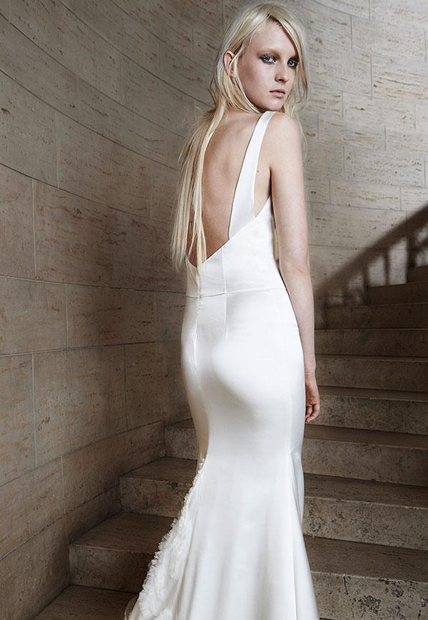 прямые свадебные платья 2015