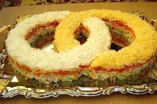 вкусные салаты на свадьбу рецепты с фото