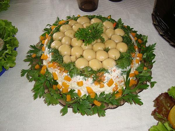 Какой сделать салат на свадьбу