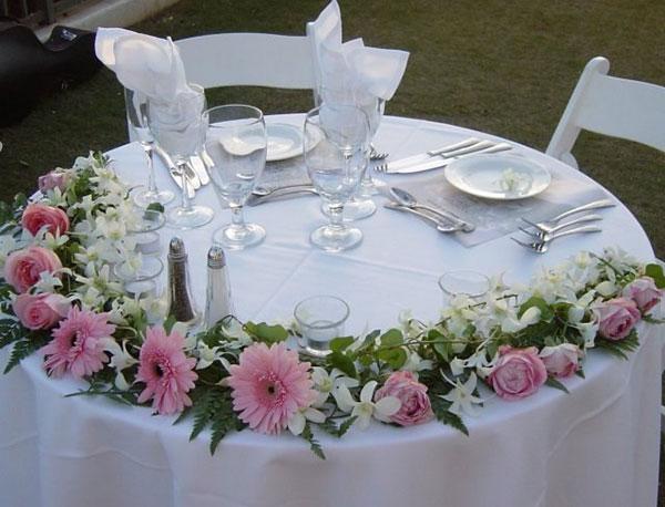оформление свадьбы цветами фото 25