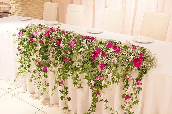 оформление свадьбы цветами фото 26