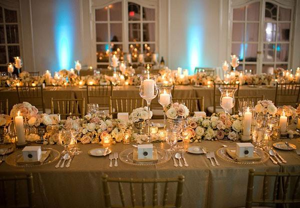 Украсить столы на свадьбу