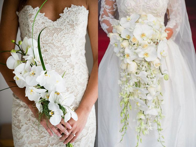 6c7bdef576163d1 Букет невесты из орхидей. Ниспадающая форма