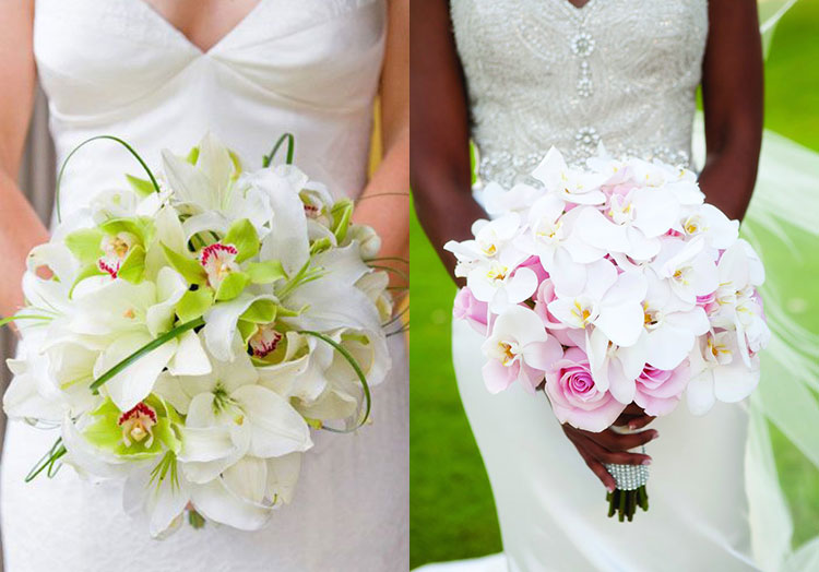 Букет невесты орхидеи синие — 5