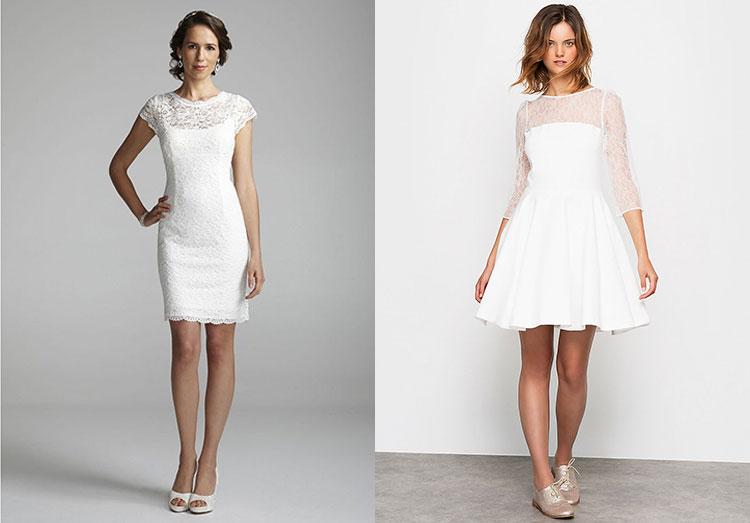 Платье свадебное прямое до колена