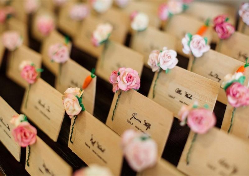 Origami Wedding Escort Cards