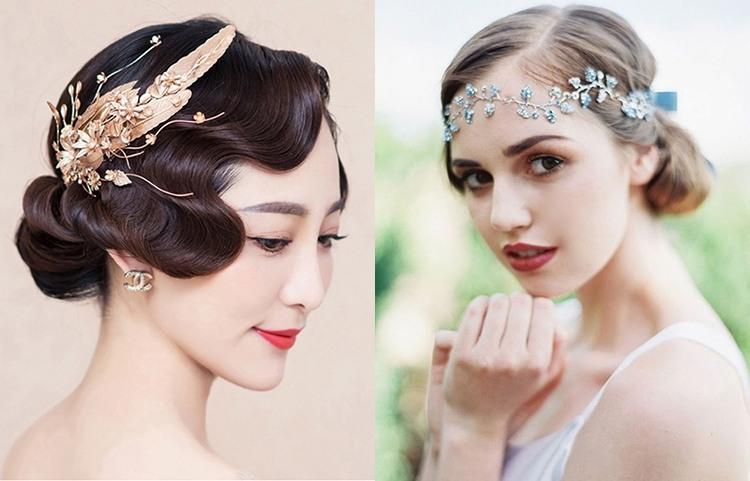 Красивые свадебные прически на короткие волосы без фаты