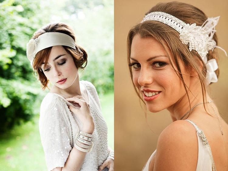 Свадебная прическа на короткие волосы в винтажном стиле