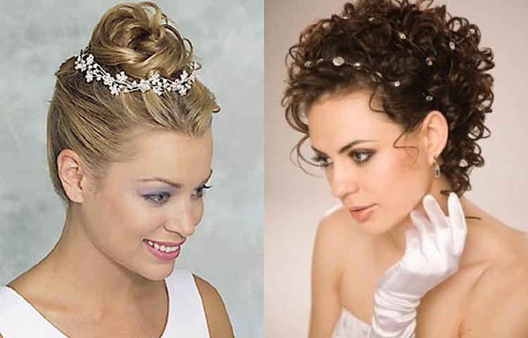 Причёски свадебные на короткие