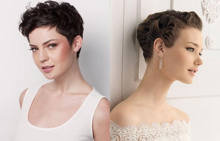 Свадебная прическа на короткие волосы в стиле минимализм