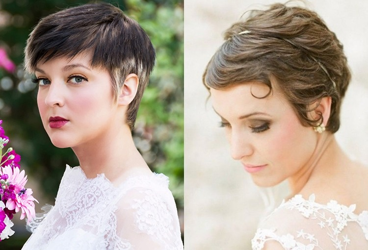 Прически для свадьбы короткие волосы