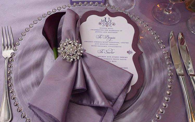 Декор свадьбы в аметистовом цвете