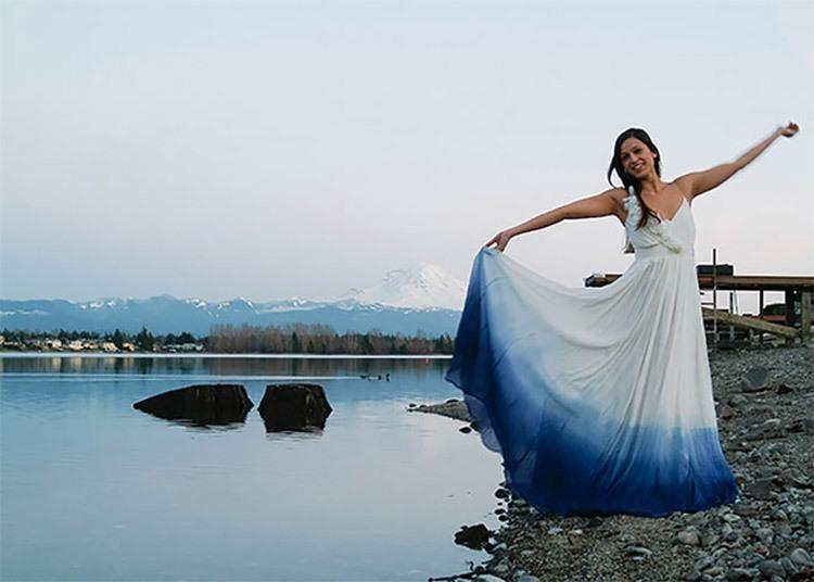 Синий цвет идеален для свадьбы в морском стиле