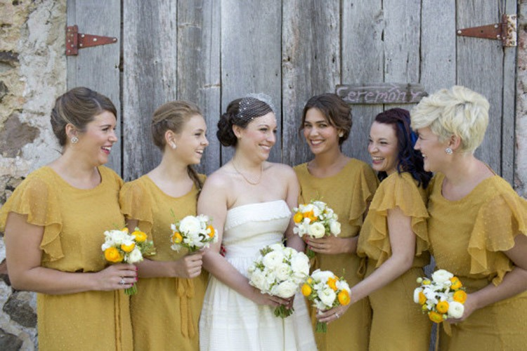 Желто-горчичная свадьба