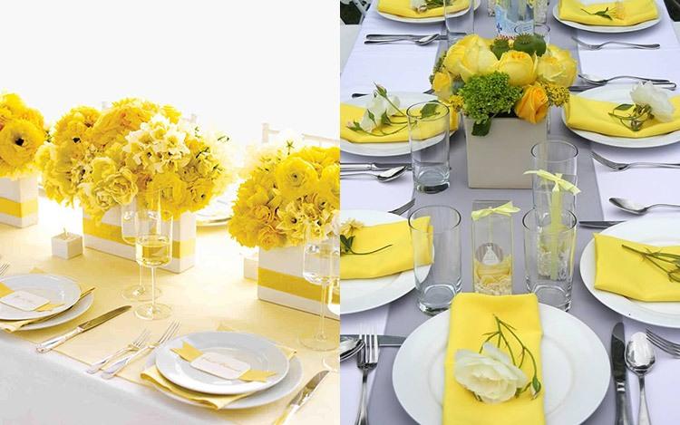 Оформление свадьбы в желто-горчичном цвете
