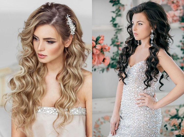 Свадебные прически на распущенные средние волосы фото