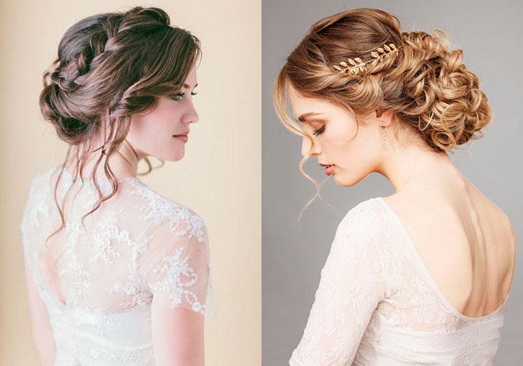 Свадебные прически на средние волосы с плетениями и косами
